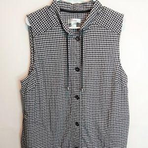 CJ Banks Black & White Vest Size 1X